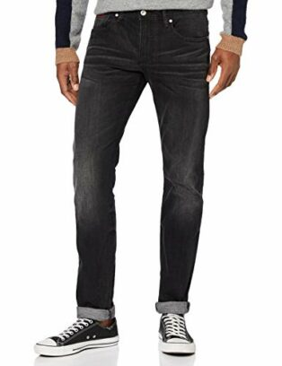Armani Exchange Herren Black, Stone Washed Denim Slim Jeans