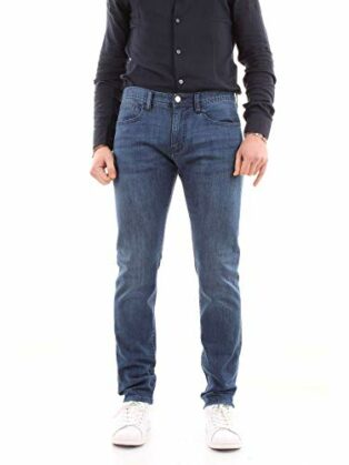 Armani Exchange Herren Cotton Stretch Indigo Blue Denim, Slim Jeans