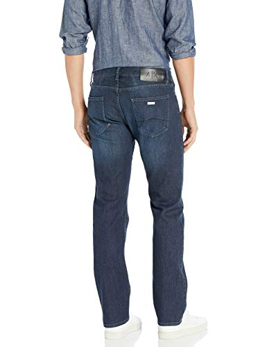 Armani Exchange Herren Cotton Stretch Blue Indigo Denim, Straight Jeans