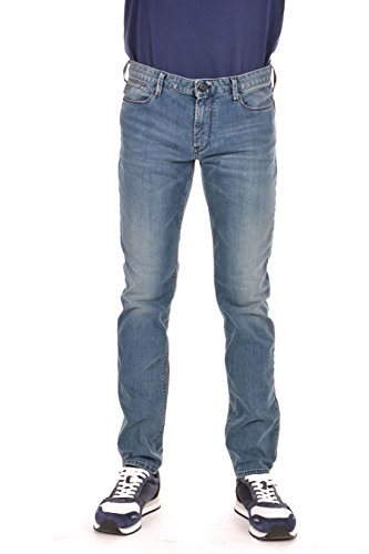 Armani Herren j06 Slim Fit Jeans Denim-Blau