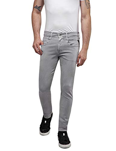 REPLAY Anbass, Herren Jeans Slim Fit, Regular Waist, stylische Hyperflex Stretch-Jeans für Männer, Denim-Jeans, Größen…