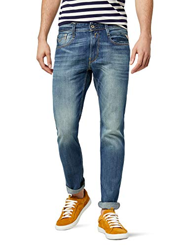 Replay Herren Slim Fit Jeanshose Anbass
